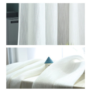 Sheer Curtain Silk Waterfall White Voile Curtain 5
