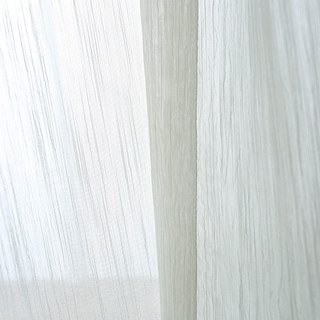 Sheer Curtain Silk Waterfall White Voile Curtain 3