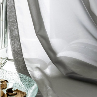 Sheer Curtain Soft Breeze Grey Voile Curtain 7