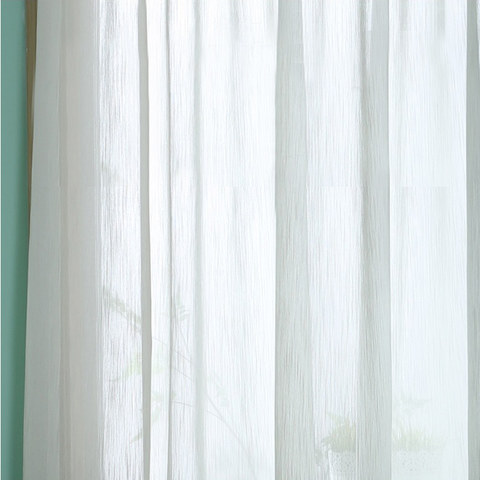 Sheer Curtain Silk Waterfall White Voile Curtain 2