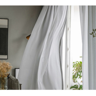 Sheer Curtain Soft Breeze Grey Voile Curtain 5
