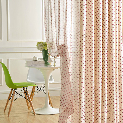 Queen of Hearts Semi Sheer Voile Curtain 2
