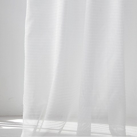 Sheer Curtain Tide Luxury Striped White Voile Curtain 4