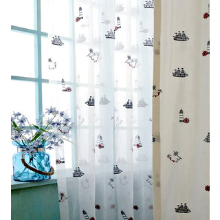 Ahoy Embroidered Sheer Voile Curtain 2