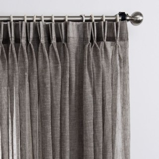 Daytime Textured Weaves Charcoal Light Grey Sheer Voile Curtain 2