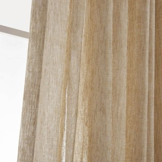Daytime Textured Weaves Light Brown Sheer Voile Curtain 4