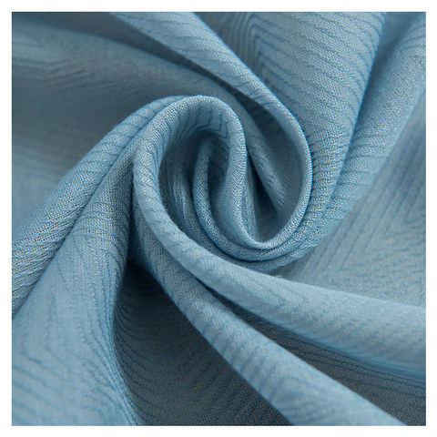 Lino Textured Blue Sheer Voile Curtain 1