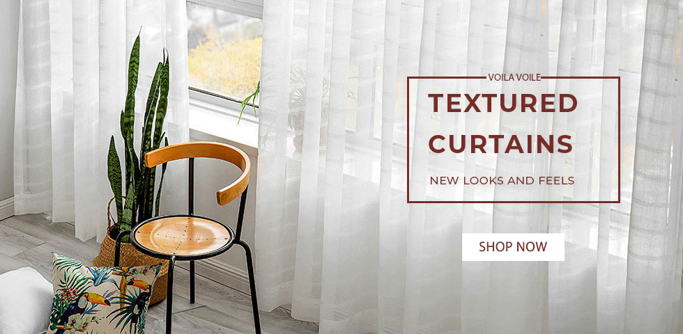 Luxury textured sheer voile curtains