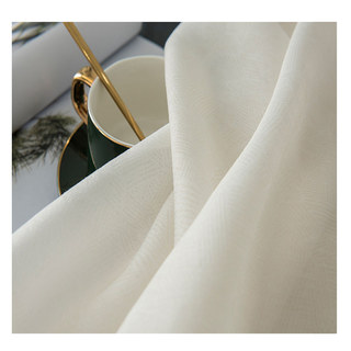 Lino Textured White Sheer Voile Curtain 3