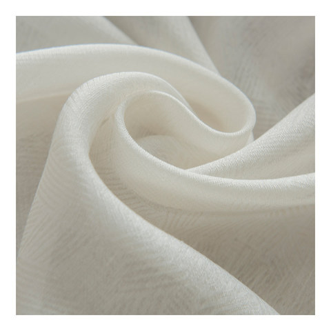 Lino Textured White Sheer Voile Curtain 2