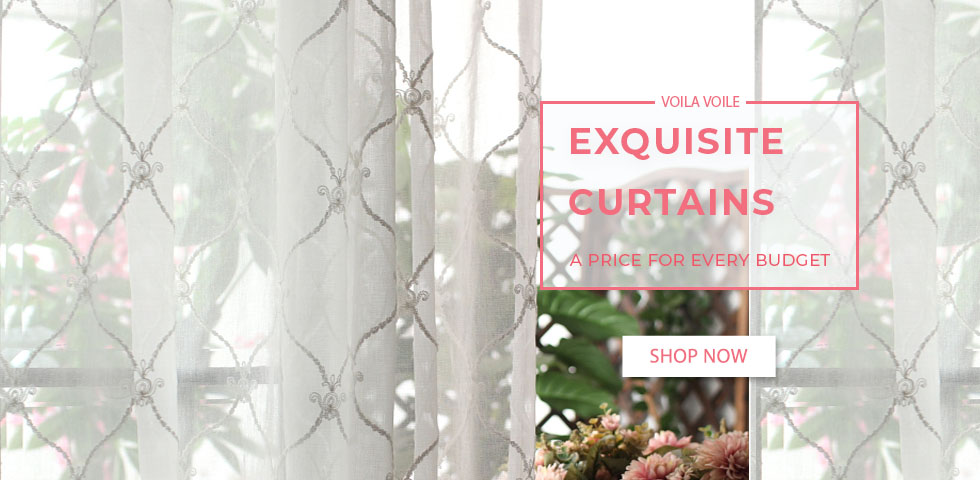 Floral Sheer Voile Curtains