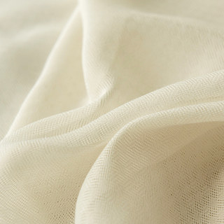 Illusion Detailed Texture Cream Sheer Voile Curtains 1