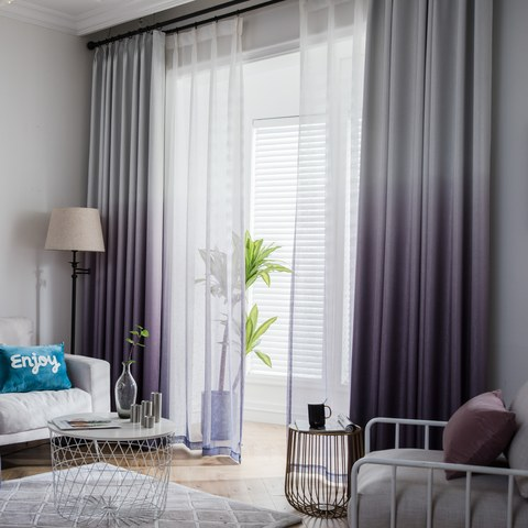 The Perfect Blend Ombre Purple Curtain 1