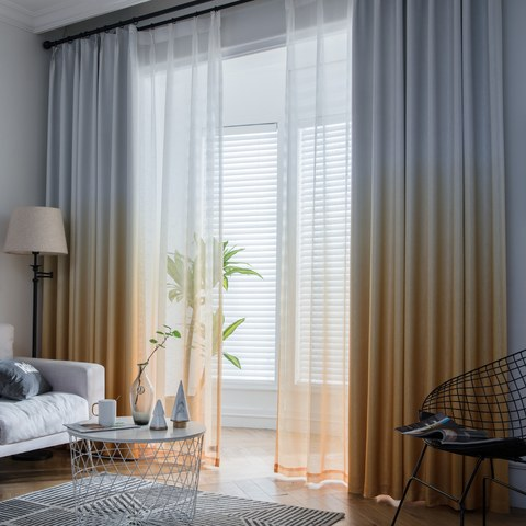 The Perfect Blend Ombre Yellow Curtain 1