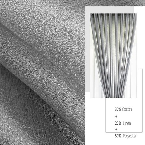 Sheer Curtain The Bright Side Light Grey Voile Curtain 5
