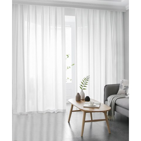 Silk Road Moonlight White Sheer Voile Curtain 2