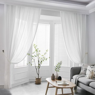 Silk Road Moonlight White Sheer Voile Curtain 1